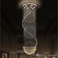 led cristal lmparas iluminacin escaleras colgantes lmpara de luz decoracin de iluminacin interior con dcm hcm candelabro luminarias