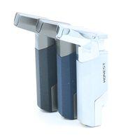 정직한 방풍 스테인레스 스틸 부탄 제트 1300 토치 라이터 열쇠 고리 - 무작위 색상 NO GAS
