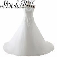 Плюс Размер Свадебные Платья Зашнуровать Милая Халат Де Mariage Аппликации Платье Свадебные Vestidos Де Novia Плюс Размер Свадебная Юбка
