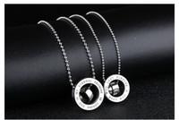Рождественский подарок * любители ожерелье из нержавеющей стали 316L с цепочкой кулон модные украшения пара ожерелья корона подвески любовь клятва
