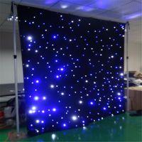 led 스타 커튼 Tianxin LED 3mx8m 웨딩 배경 무대 배경 천으로 멀티 컨트롤러 dmx 기능