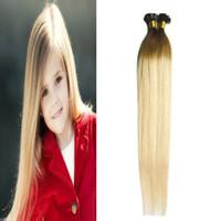 T4 / 613 100g extensões de cabelo de fusão loira ombre o cabelo para aumentar a cápsula pre bonded Flat-ponta 100 s 4B 4C ombre cabelo humano