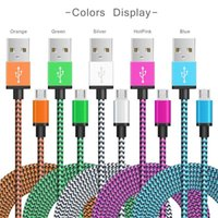 Type C Cable Nylon Braided Charging Micro USB Charger Cord C...