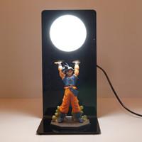 Anime Dragon Ball Z Goku Figures Super Saiyan LED Spirit Bomb Goku Table  Lamp PVC Dragon Ball Action Figure Collectible Model Toys
