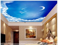 Free shipping High Quality Custom 3d ceiling wallpaper mural...