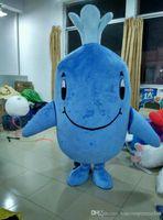 Costume maschio della mascotte della balena di EN71 del costume adulto della mascotte del blu di balena del costume della mascotte del costume della balena blu identico come rappresentato in per la vendita