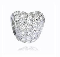 Adatto a Pandora Bracciali Silver Big Hole Perline di cristallo perline sciolto Charms per all'ingrosso fai da te collana europea gioielli accessori
