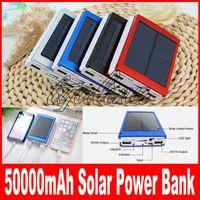 50000 Mahソーラーチャージャー力銀行50000mah新しい携帯用充電器太陽電池外部充電器パワーバンク送料無料
