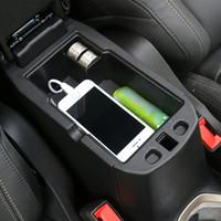 يغطي ABS مسند الذراع صندوق التخزين المركزي مسند الذراع صندوق تخزين الديكور للجيب المتمرد 2016+ اكسسوارات السيارات الداخلية
