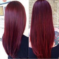 Brésil Bourgogne cheveux humains 4 Bundles couleur du Brésil 99 # Vin rouge Virgin Hair Weave gros Brésil prolongements de cheveux humains