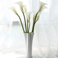 """Moda para el hogar 24.8 """"flores de gran calla lily flores florales en general para la sala de estar mesa decoración de la boda decoración del hogar envío libre"""