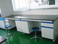 Labor-Beistelltisch-Laborbank-Stahl Hölzerne Labormöbel-C-Rahmen-Stahl-hölzerne Laborwand-Bank 3600 * 750 * 850mm