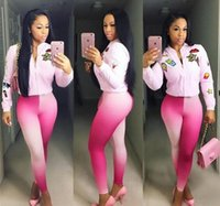 2016 Women Clothes Sets Tracksuits Fashion personality Gradu...