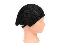 Вязание плетеный 2020 волос петля Плетеный Cap заплетать волосы в косички Croceht парик 70G Black Synthetic Сделано для вязания кос protectif Стиль для женщин