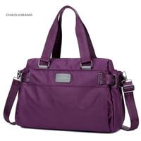 النايلون المحمولة عبر أكياس حزمة المرأة حقائب اليد ذات سعة كبيرة للماء القماش أكسفورد حقيبة كمبيوتر محمول