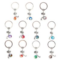 Fashion Drusy Druzy keychain Shell Starfish Mermaid Key Ring...
