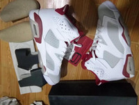 Alternate 6s White Gym Red HARE IN HAND Wholesale Basketball...