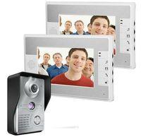7 Pouce Interphone Vidéo Interphone Sonnette 1-caméra 2-Moniteur Nuit Vidéo Interphone Vidéo Interphone Vidéo