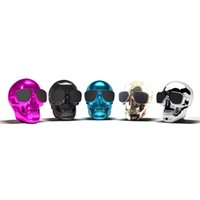 100pcs Portable Skull Bluetooth Haut-parleurs Skull Head Ghost Sans fil Stéréo Subwoofer Mega Bass 3D stéréo Hand-free Audio Player Mini Speaker