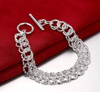 Hot Wholesale Silver Plated Bracelets about 21cm Long Silver...