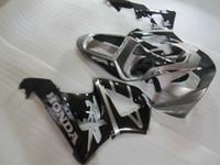 Spritzguss ABS Kunststoff Verkleidungssatz für Honda CBR900RR 00 01 silber schwarz Verkleidungssatz CBR929RR 2000 2001 OT27