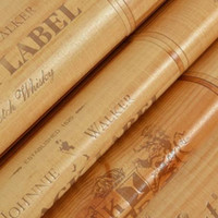 Wholesale- Vinyl PVC Wood box wallpaper 3D effect Decor Cork...