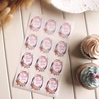 타원은 선물 포장이 공급을 선호 당신에게 스티커 꽃 장식 씰 라벨 쿠키 가방 디저트 상자 장식 스티커 감사합니다