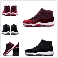 classic 11 velvet Heiress grey suede new 11s men basketball ...