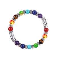 7 chakra Solde de guérison Berce Bracelet Antique Bouddha Prière Naturel Pierre Yoga Bracelets Bracelet Bangliers Femmes Hommes Bijoux Will et Sandy