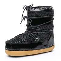 Women space Boots and boots for girls winter Lace to plush w...