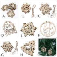 8- Packed wood laser christmas decorations christmas ornament...