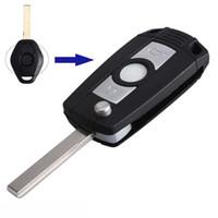 보장 100 % 열쇠가없는 항목 원격 FOB 키 셸 주요 자동차 케이스 접이식 플립 BMW 3 5 7 시리즈 Z3 Z4 E38 E39 E46 무료 배송