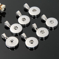 18MM Snaps encantos botón colgante de metal intercambiables Galleta de jengibre para las pulseras collares Hacer Moda Noosa joyería a granel