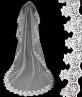 52008 Cathédrale Tulle Cathédrale Long Long White Ivoire Voile de mariée Accessoires de mariage