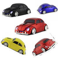 Mouse da auto unico Classic Beetle 2.4G mouse wireless Mouse ottico da gioco 3D Mouse Bug Beatles confortevole 3D Sports Car Mouse per PC Laptop