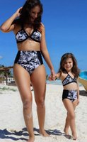 2017 Family Matching Outfits Mother And Daughter Summer Swim...