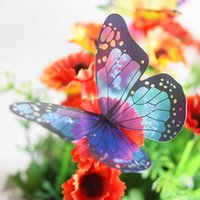 18pcs lots New hot Creative Colorful 3D Butterfly Wall Stick...
