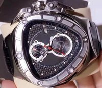 Special Mens Chronograph Triangle Watch Men Black Dial Lambo...