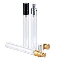 200 adet 10 ml Cam Parfüm Şişesi Boş Refilable Sprey Şişe Küçük Parfüm Atomizer Parfüm Örnek Şişeler testi cam şişe Ücretsiz Kargo