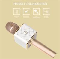 Aktualisiert von Q7 Weihnachtsgeschenk Karaoke-Player Mini-Mikrofon Q9 Tragbarer Lautsprecher Funkmikrofon Q9 mit Mikrofon Bluetooth-Lautsprecher KTV