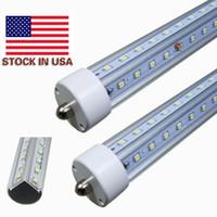 8 ft yol boru FA8 tek pin V-Şekilli T8 ışık tüpleri soğuk beyaz beyaz 8 ayak Soğutucu Işıklar LED Ampüller AC 110-240V sıcak yol