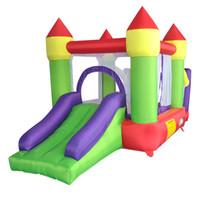 Jardim Residencial Bouncy Castelo Inflável Bounce Bounce Casa Jumper Slide com ventilador