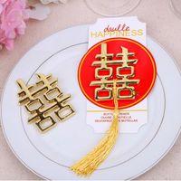 Favore di bottiglia di doppio di felicità di tema cinese asiatico cinese di cerimonia nuziale dei favori di partito di omaggi Trasporto libero