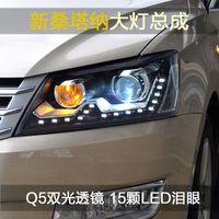POUR 13-15 nouvelles lampes frontales à xénon LED Santana Q5 à double lentille avec éclairage de jour modifié