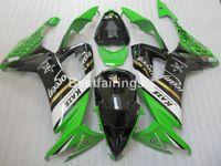 Горячие продажи пластиковые обтекатель комплект для Kawasaki Ninja ZX10R 08 09 зеленый черный обтекатели набор ZX10R 2008 2009 TU06