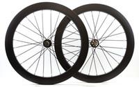 700C عجلات من ألياف الكربون 60MM عمق قرص الفرامل العجلات 25MM عرض الفاصلة الطريق دراجة العجلات مع محور 791/792