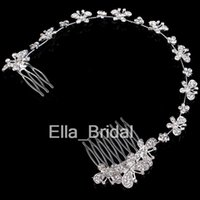 New Design Crystal Butterfly Bridal Hair Jewelry Beautiful W...