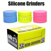 3 Layers 40mm Silicone Grinder Smoking Tobacco Herb Grinders...