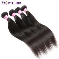 Fastyle 도매 인도 스트레이트 4pc / lot 브라질 페루 말레이시아 밍크 버진 인간의 머리카락 슈퍼 품질 합리적인 가격 Dyeable