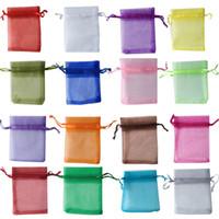 Hot koop! 7x9cm premium organza bruiloft gunst geschenk tassen sieraden pouches bundel zakken pure garen tas, 100pcs / lot snoep tassen